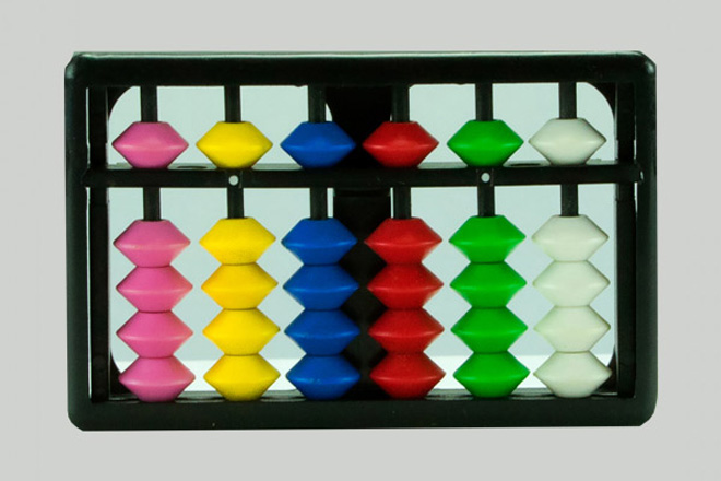 Kids Abacus - 6 rods Model 106